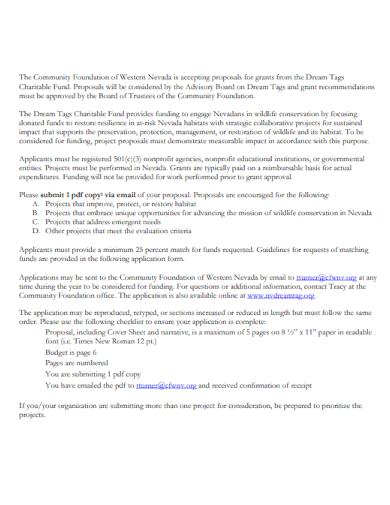 organization charity proposal