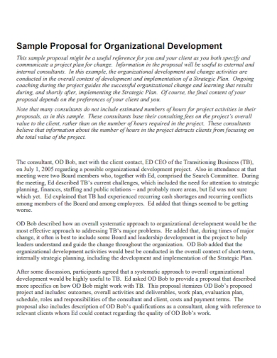 organization developement proposal