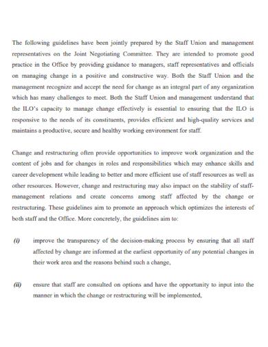organization restructure proposal