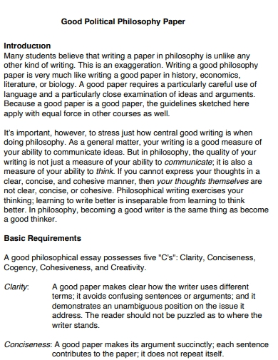 political philosophy papers