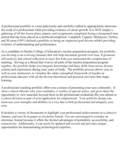 portfolio introduction essay