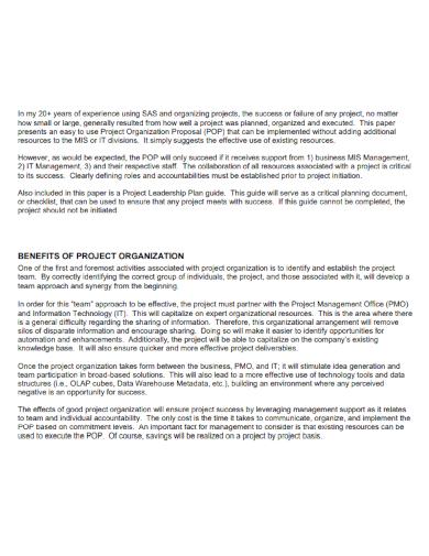 project organization proposal