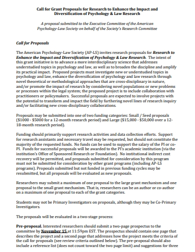 psychology research grant proposal