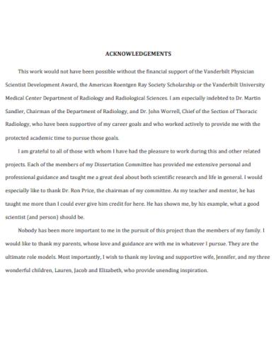 sample acknowledgement report