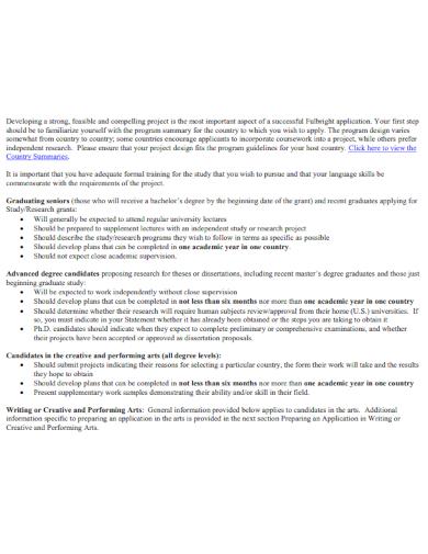sample study plan for scholarship application