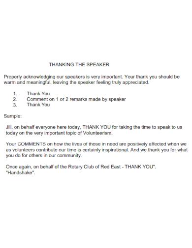 thankyou speech for speaker guest