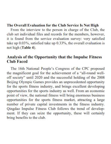 advance gym swot analysis