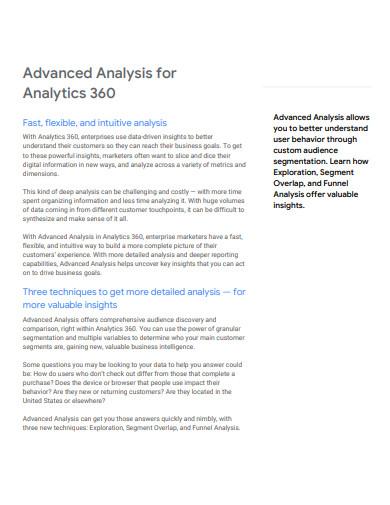advanced funnel analysis