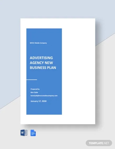 advertising agency new business plan template