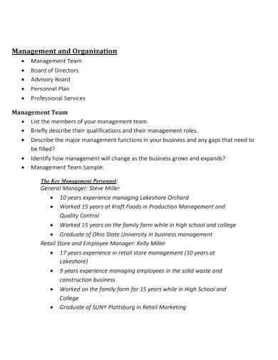 agriculture management business plan