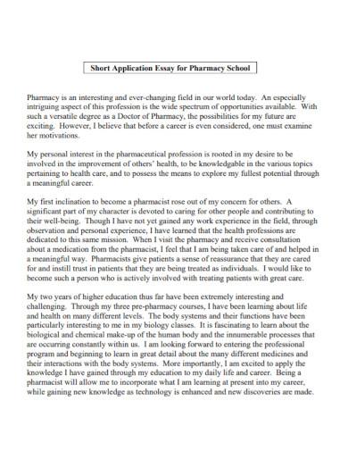 application essay for pharmacy school