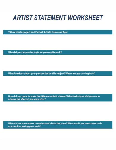 artist statement worksheet template1