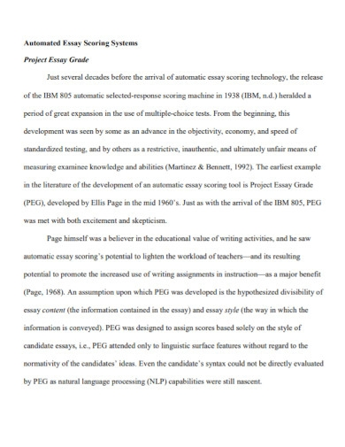 automated literature essay