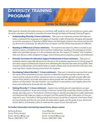 basic diversity training program