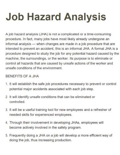 basic job hazard analysis