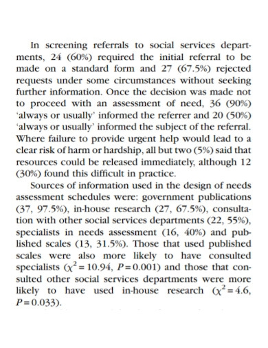 basic social service needs assessment