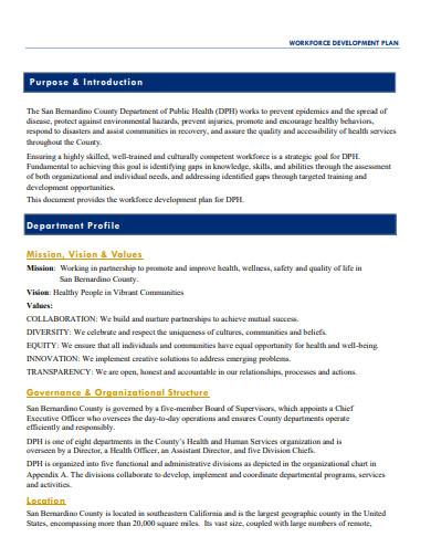 basic workforce development plan