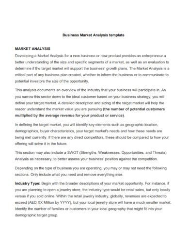 business market analysis template1