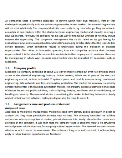 business opportunity evaluation essay
