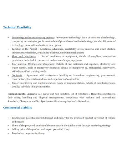 business techno economic feasibility report
