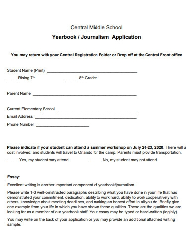 central middle school application essay