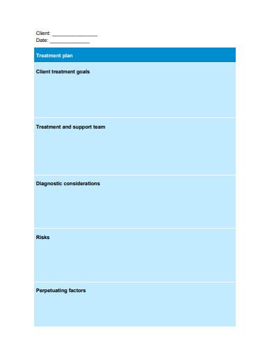 client treatment plan example