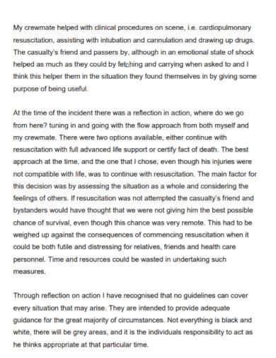 clinical nursing reflective essay