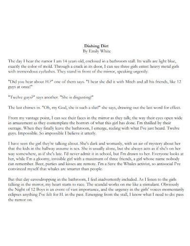 college short narrative essay