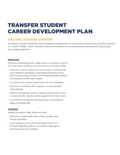 college student career development plan