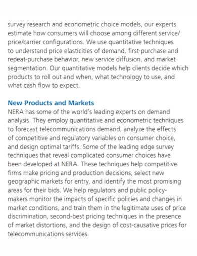 communications industry and market analysis