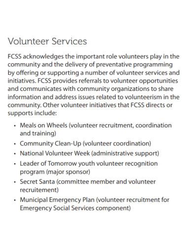 community social service needs assessment