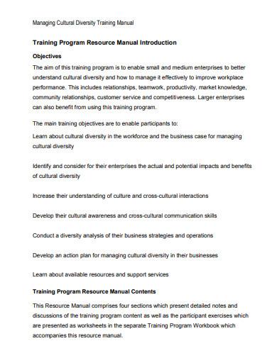 cultural diversity training program