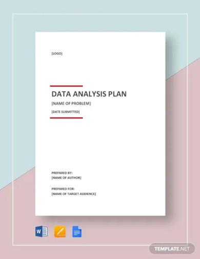data analysis plan template