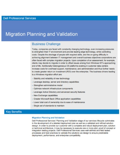 dell company migration plan