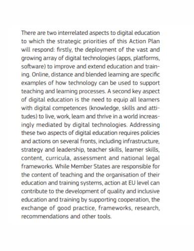 digital education learning plan