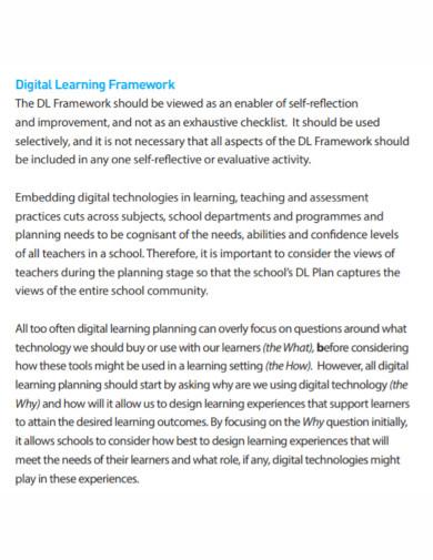 digital learning plan template