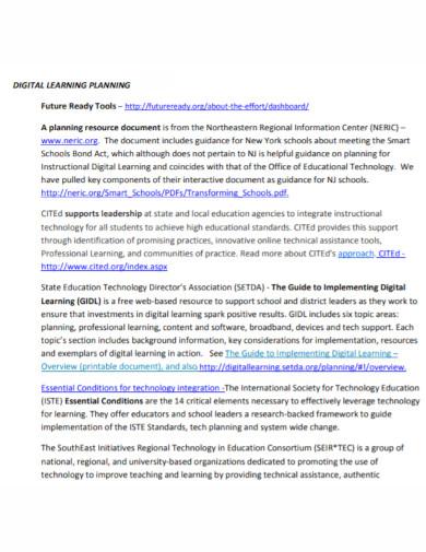 digital learning technology plan