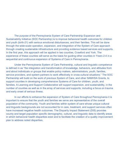 disparity impact statement template