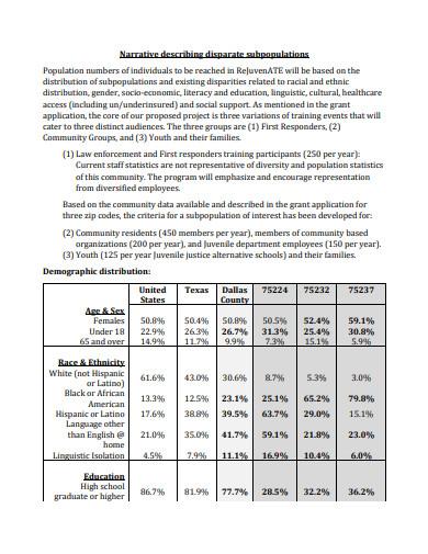 disparity impact statement in pdf