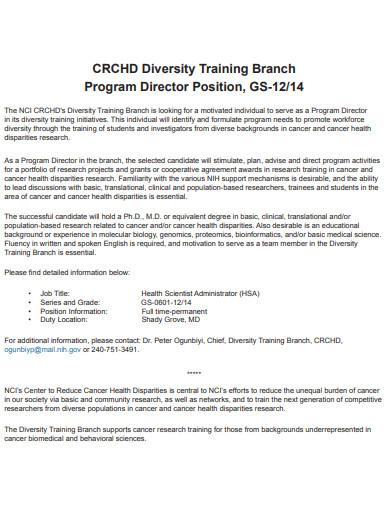 diversity training branch program