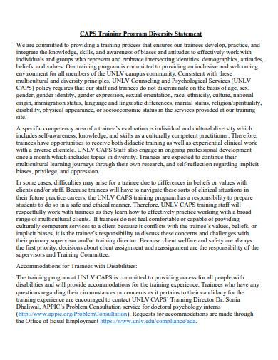 diversity training program in pdf
