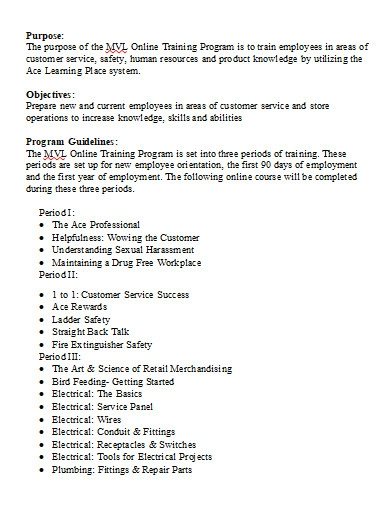 employee online training program