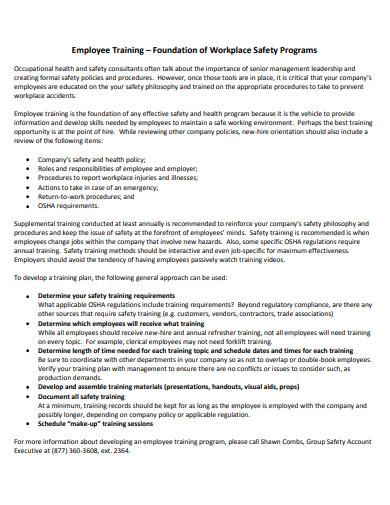 employee training program in pdf