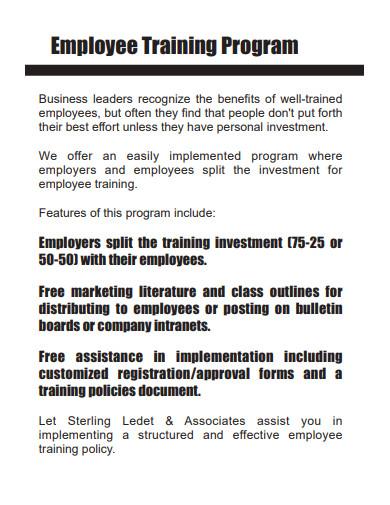 employees training program example