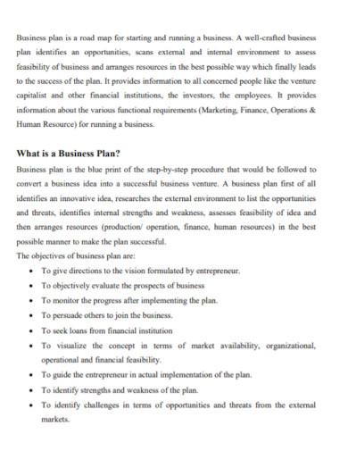 entrepreneurship new business plan