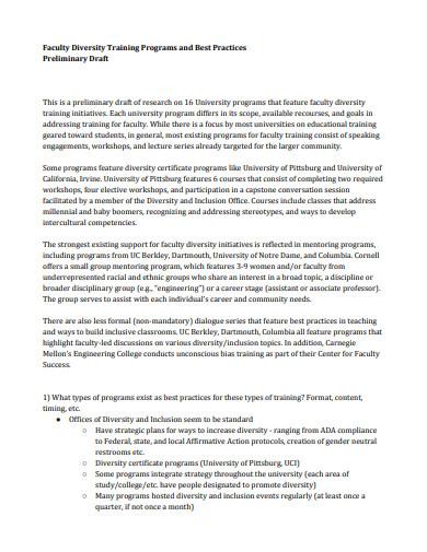 faculty diversity training program