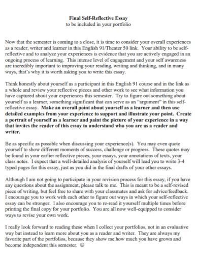 final self reflection essay