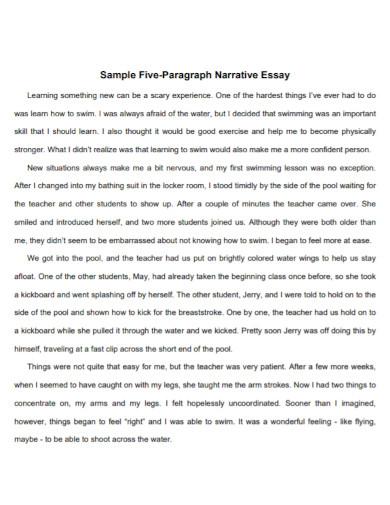 five paragraph short narrative essay