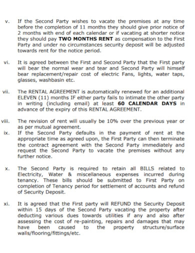 flat rent primary agreement