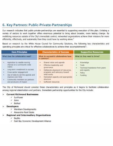formal partnership marketing plan